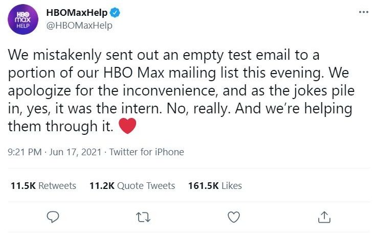 Twitter rallies to support HBO Max intern after email gaffe, smartphone is essential tool for low income Americans, and airlines seek government help on messaging
